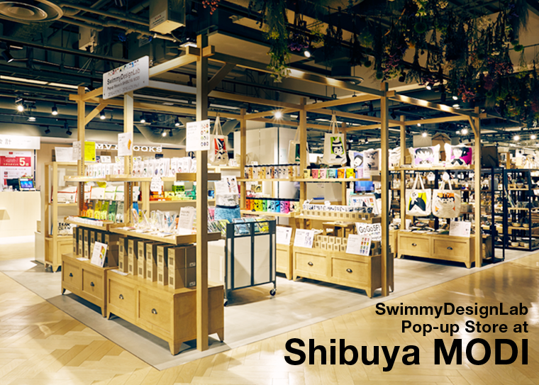 SwimmyDesignLab Popup store at Shibuya MODI