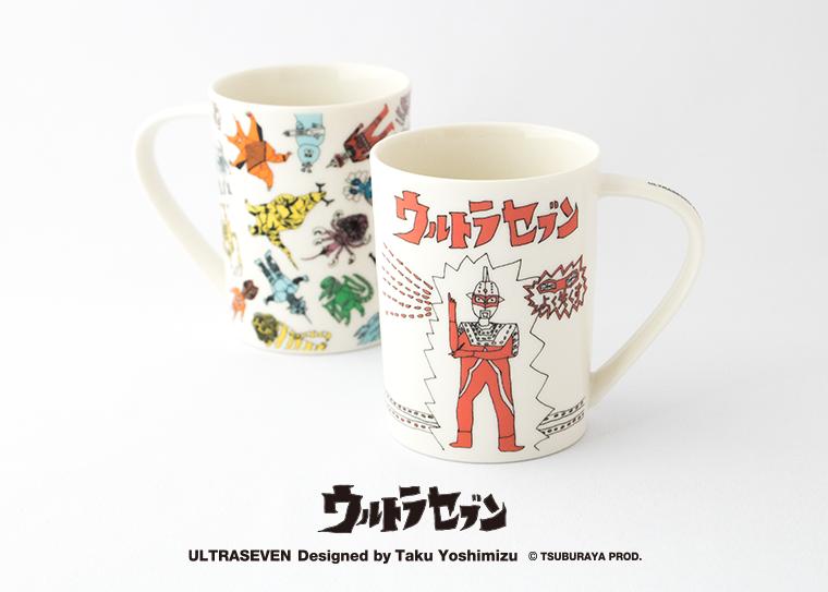 SwimmyDesignLabデザインのウルトラセブンのマグカップが発売されました。