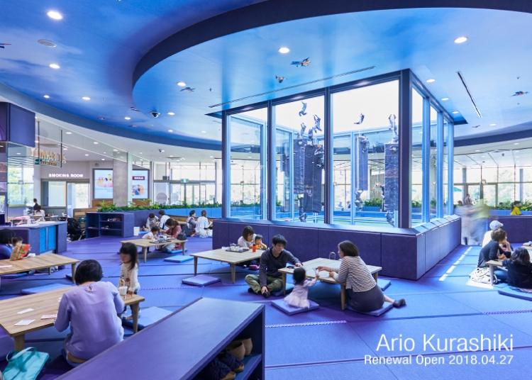 スイミーデザインラボがアートディレクションを担当した休憩スペース「AT FAMILY KURASHI